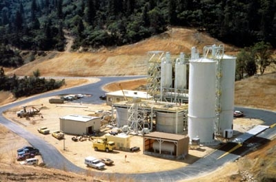 Pengolahan air asam tambang di Iron Mountain Mine, Shasta County, CA